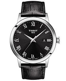 Tissot Men's Swiss Classic Dream Black Leather Strap Watch 42mm