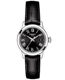 Tissot Women's Swiss Classic Dream Black Leather Strap Watch 28mm