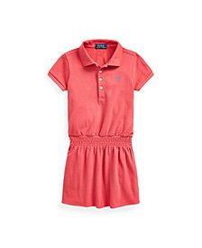 Little Girls Smocked Mesh Polo Dress