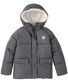 Big Girls Faux Fur Lined Puffer Jacket