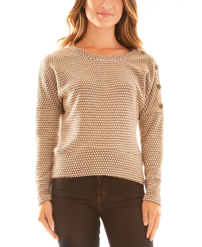 BCX - Juniors' Textured Knit Top