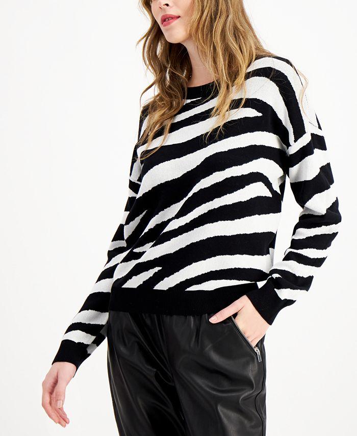 Bar III - Tiger Striped Sweater