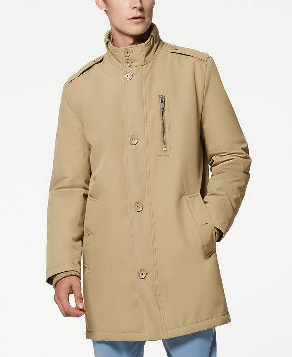 Marc New York Cullen Oxford Men's Twill Military Inspired Style Coat with Rib Detail