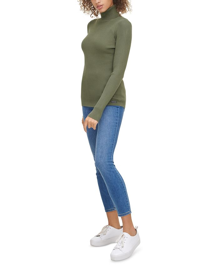 Calvin Klein Jeans - Ribbed Long-Sleeve Turtleneck
