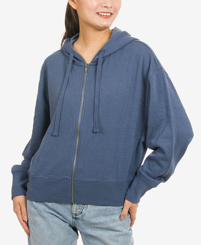 Hippie Rose - Juniors' Zip-Front Hoodie Sweatshirt
