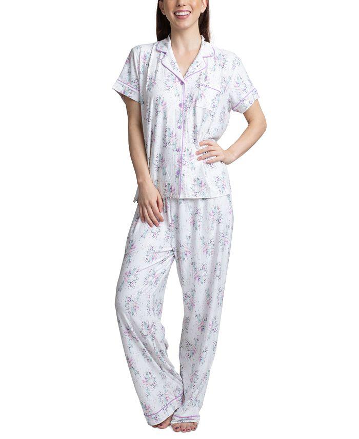 Muk Luks - Printed Short Sleeve Pajamas Set