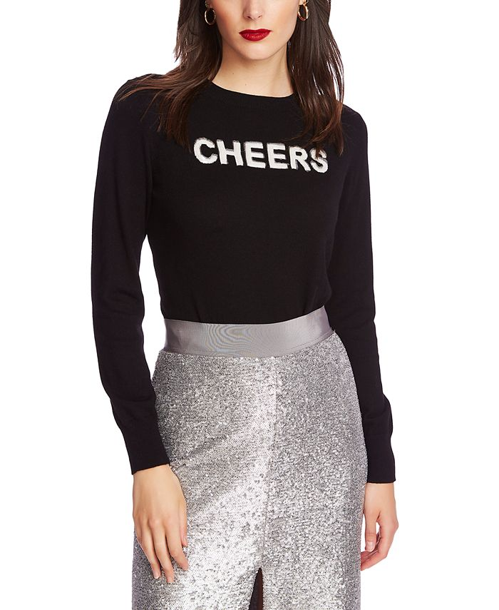 1.STATE - Embellished Cheers Sweater