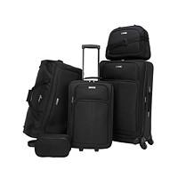 5-Piece Tag Ridgefield Softside Luggage Set (Black / Paisley)