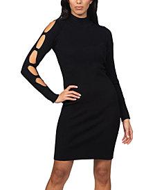 RTV- bebe Caged-Sleeve Ribbed Sweater Dress