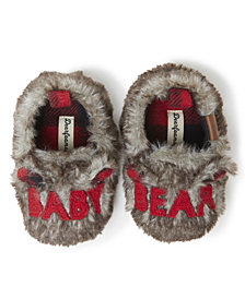 Infants Furry Baby Bear Closed Back Matching Family Slippers