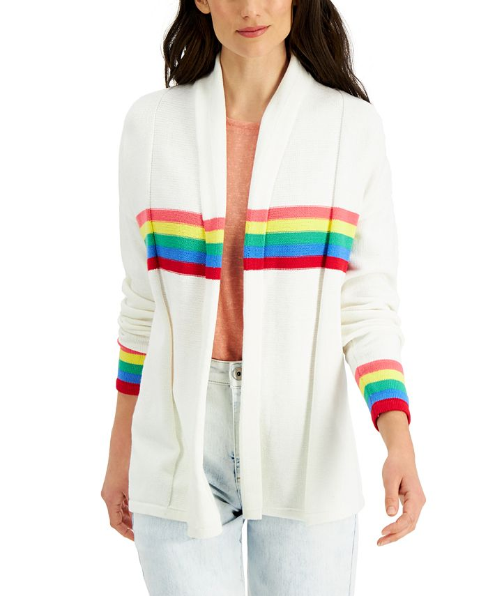 Style & Co - Cotton Striped Cardigan