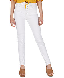 Numero High-Rise Exposed-Button Skinny Jeans