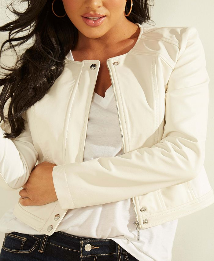 GUESS - Viper Faux-Leather Moto Jacket