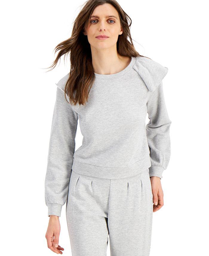 INC International Concepts - Ruffled Sweatshirt
