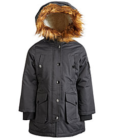 Diesel Little Girls Faux-Fur Hooded Parka