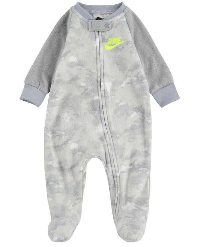 Nike - Baby Boys Crayon Camo Microfleece Footed Coverall