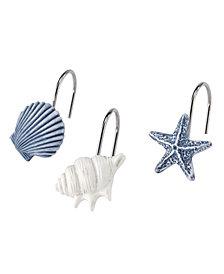Avanti Abstract Coastal Shower Curtain Hooks, Set of 12