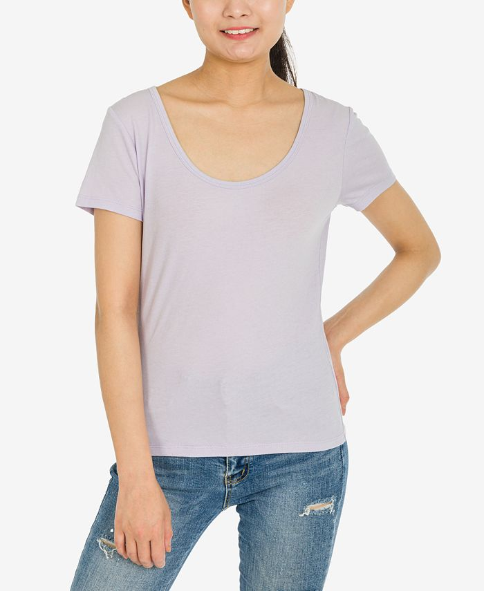 Hippie Rose - Juniors' Scoop-Neck T-Shirt