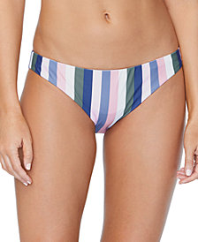 Raisins Juniors' Chasing The Sun Striped Lowrider Bikini Bottoms