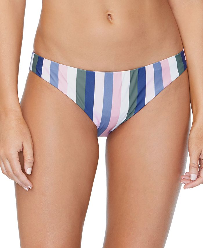 Raisins - Juniors' Chasing The Sun Striped Lowrider Bikini Bottoms