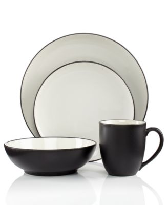 Noritake Colorwave Graphite Coupe 4-Piece Place Setting