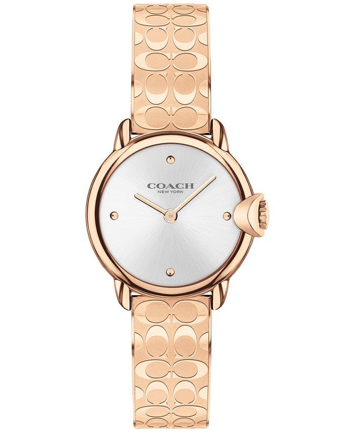 COACH - Women's Arden Rose Gold-Tone Bangle Bracelet Watch 26mm