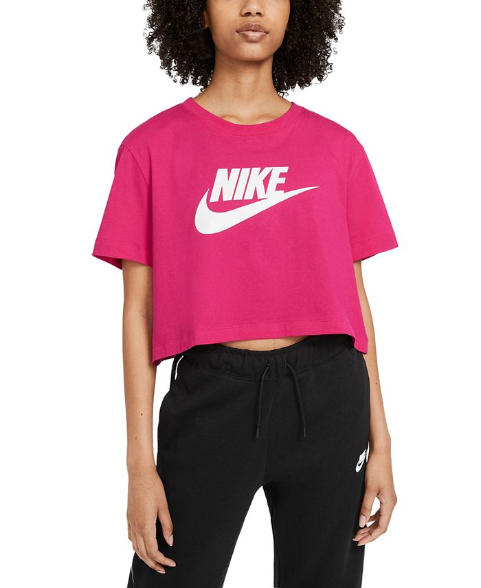 Nike - Sportswear Cotton Logo Cropped T-Shirt