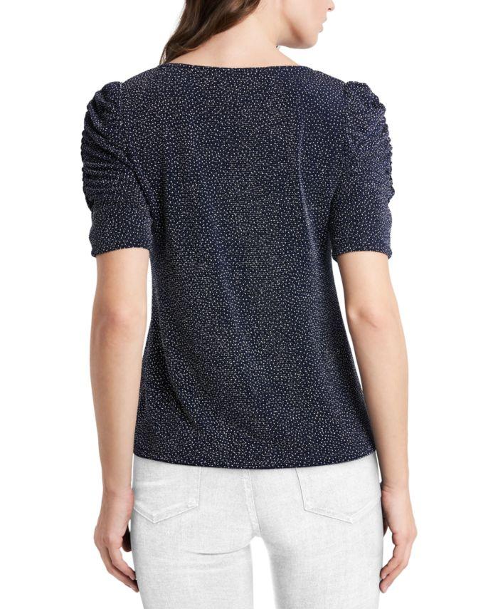MSK Petite Caterpillar-Sleeve Sparkle Knit Top & Reviews - Dresses - Petites - Macy's