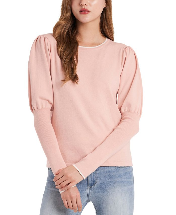 Riley & Rae - Cotton Cosette Puff-Sleeve Sweater