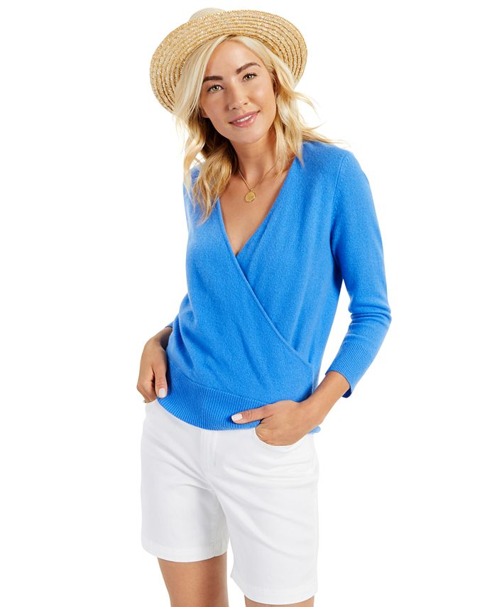 Charter Club - Wrap-Style Cashmere Sweater