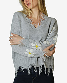 Polly & Esther Juniors' Daisy Destructed Sweater