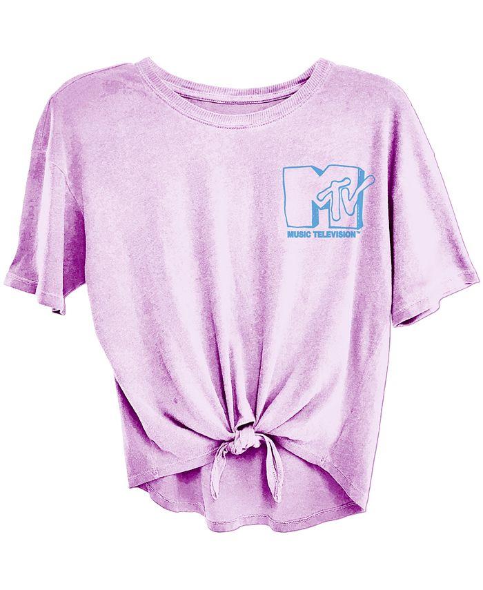 Freeze 24-7 - Juniors' MTV Tie-Front T-Shirt