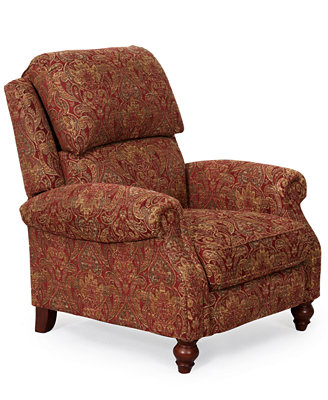 Lawrence Fabric Recliner Furniture Macy S