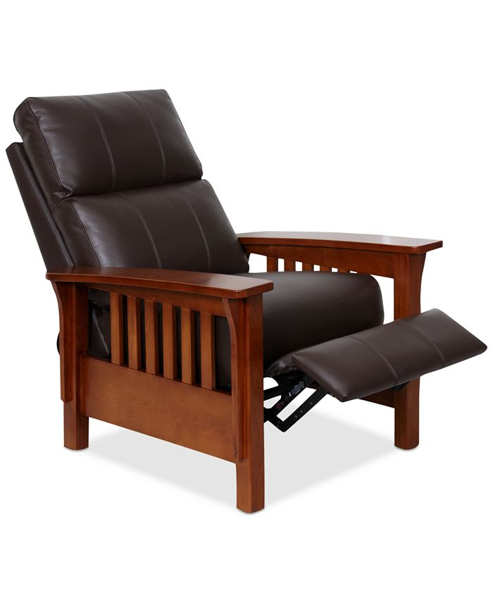 """Furniture - Harrison Leather Recliner Chair 33""""W x 39""""D x 42.5""""H"""