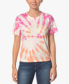 Hurley Juniors' Cotton Tie-Dyed Girlfriend T-Shirt