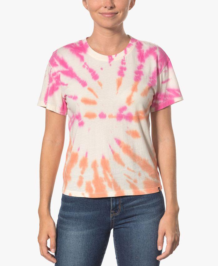 Hurley - Juniors' Cotton Tie-Dyed Girlfriend T-Shirt