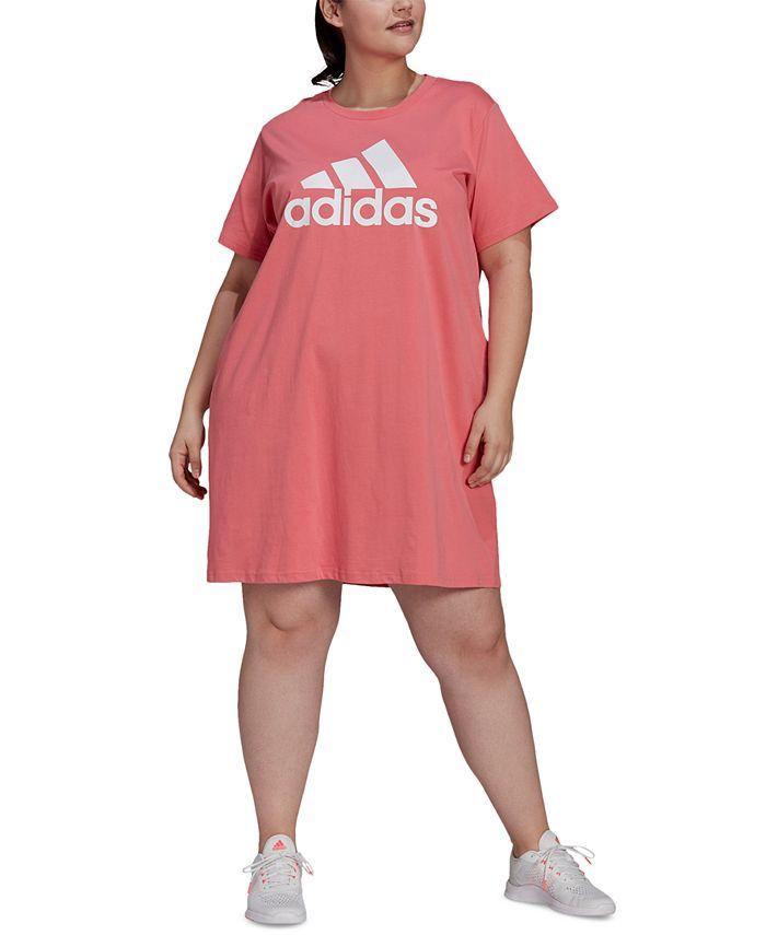adidas Plus Size Cotton Badge of Sports T-Shirt Dress & Reviews ...