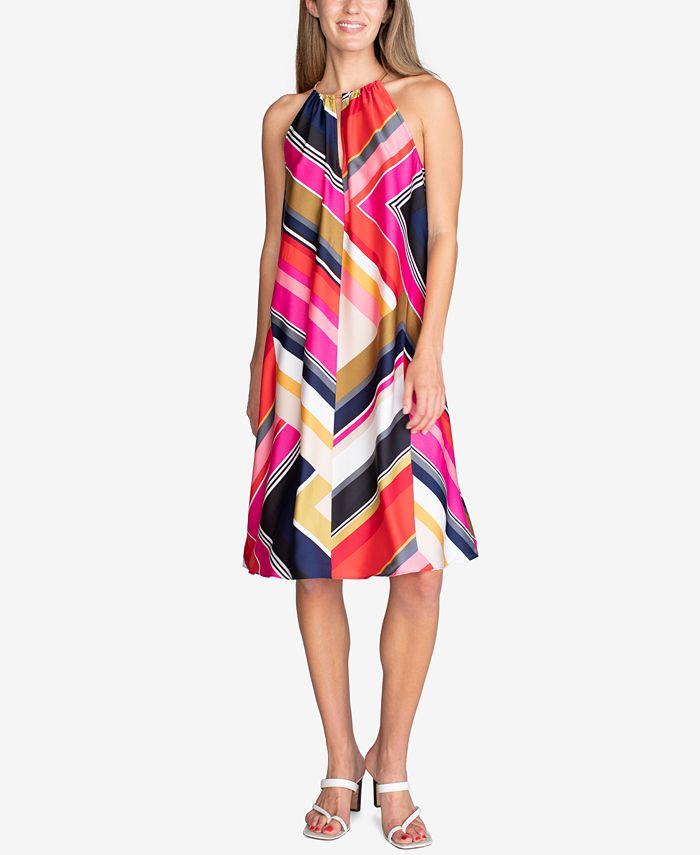 Trina Turk - Marquesa Printed Hardware Sleeveless Dress