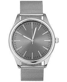 INC Men's Stainless Steel Mesh Bracelet Watch 43mm, Created for Macy's