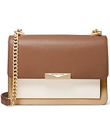Michael Michael Kors Jade Large Gusset Leather Shoulder Bag