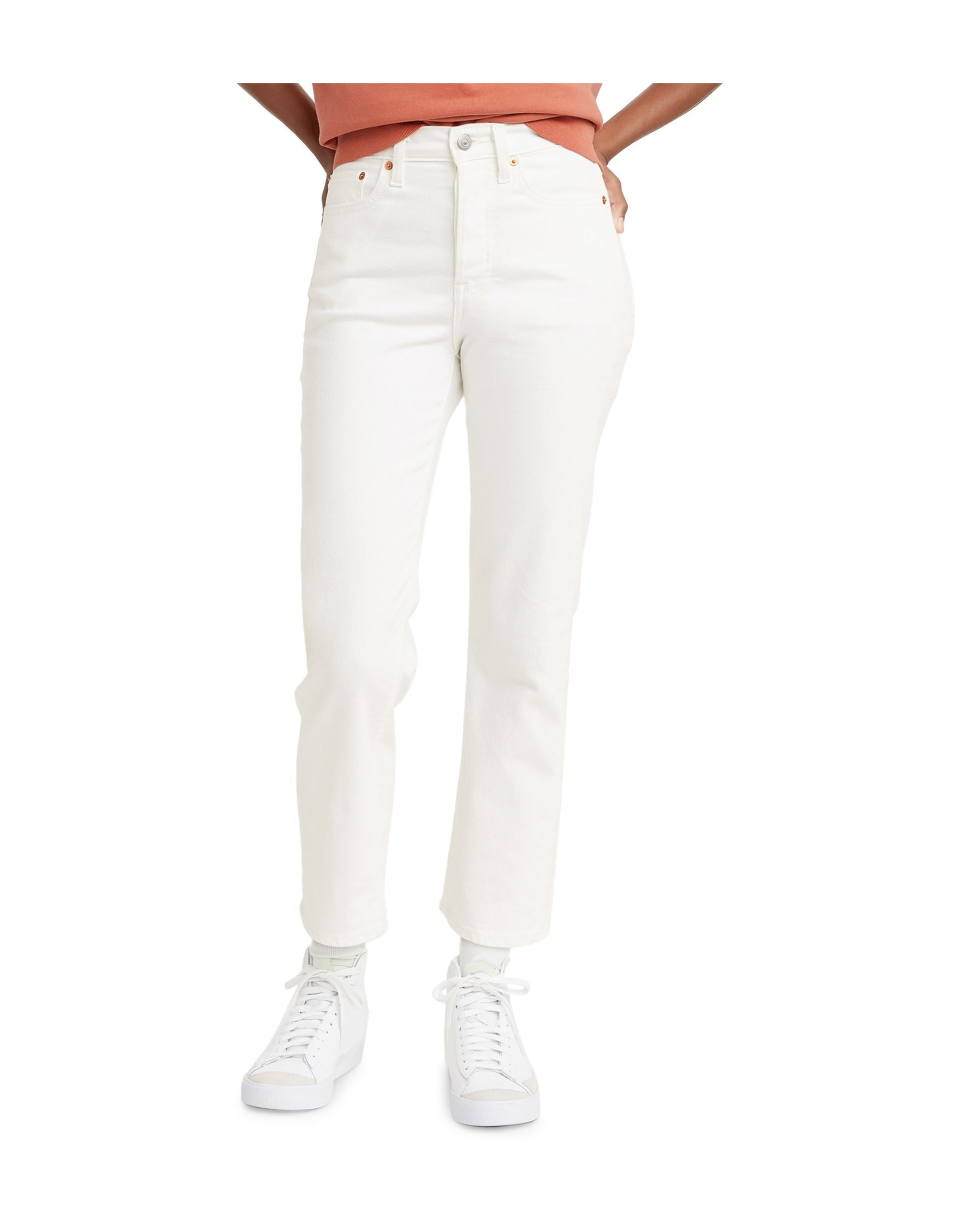 Women\'s Wedgie Straight-Leg Cropped Jeans Soft Clean
