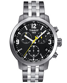 Tissot Men's Swiss Chronograph PRC 200 Stainless Steel Bracelet Watch 42mm
