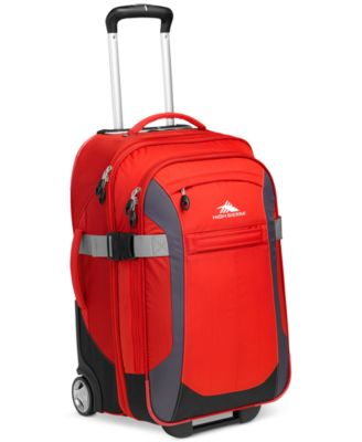 "High Sierra Sportour 22"" Rolling Carry On Expandable Suitcase, Red"
