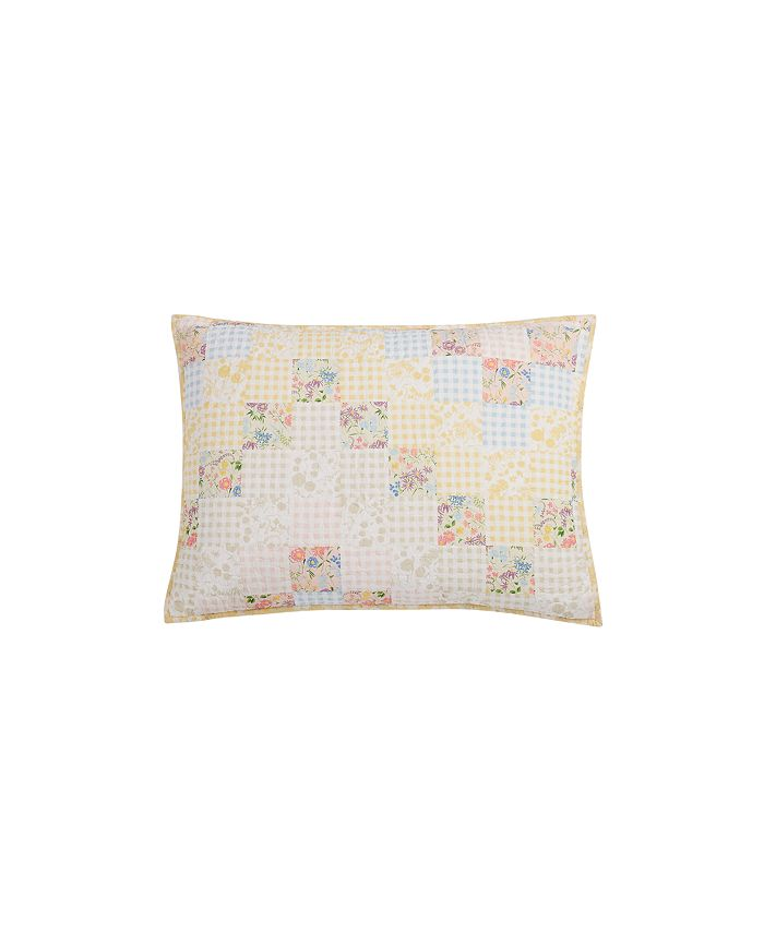 Martha Stewart Collection - Checker Floral 100% Cotton Quilt Collection, Created for Macy's