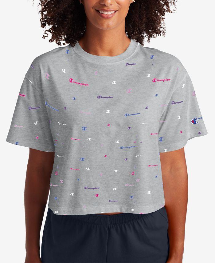 Champion - Logo-Print Cropped T-Shirt