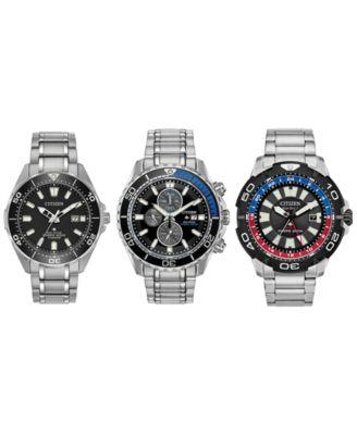 Eco-Drive Men's Promaster Diver Black Rubber Strap Watch 46mm