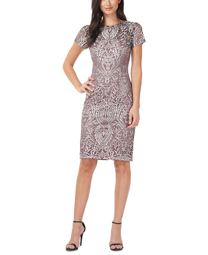 JS Collections - Short-Sleeve Cocktail Dress
