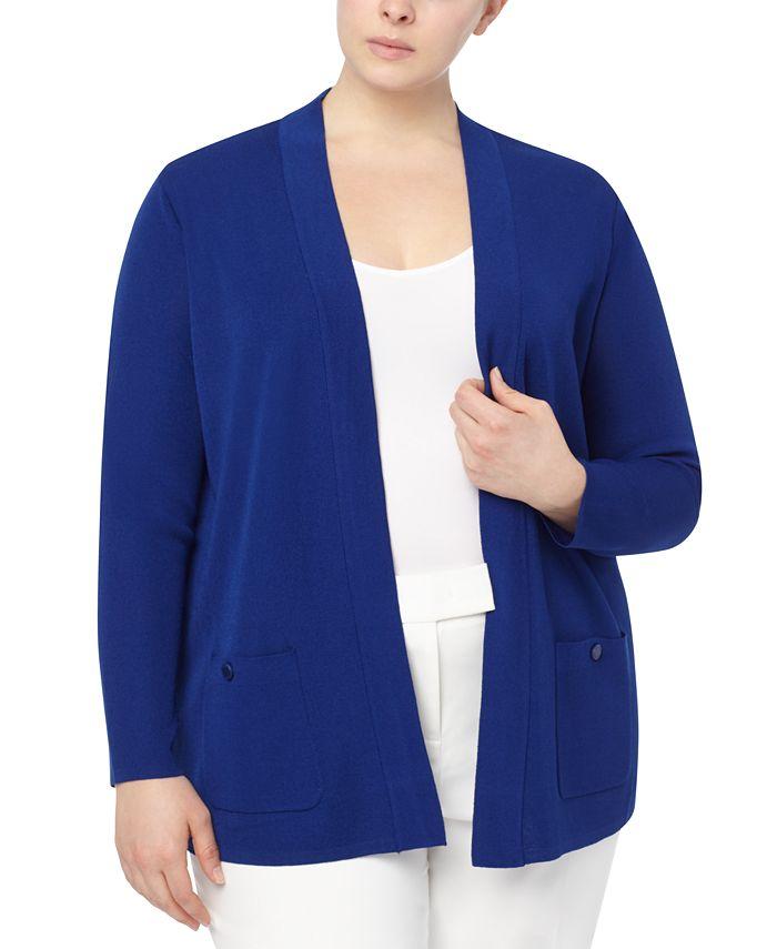 Anne Klein - Plus Size Malibu Open-Front Cardigan