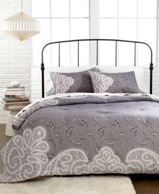CLOSEOUT! Vintage Lace 3 Piece King Duvet Cover Set