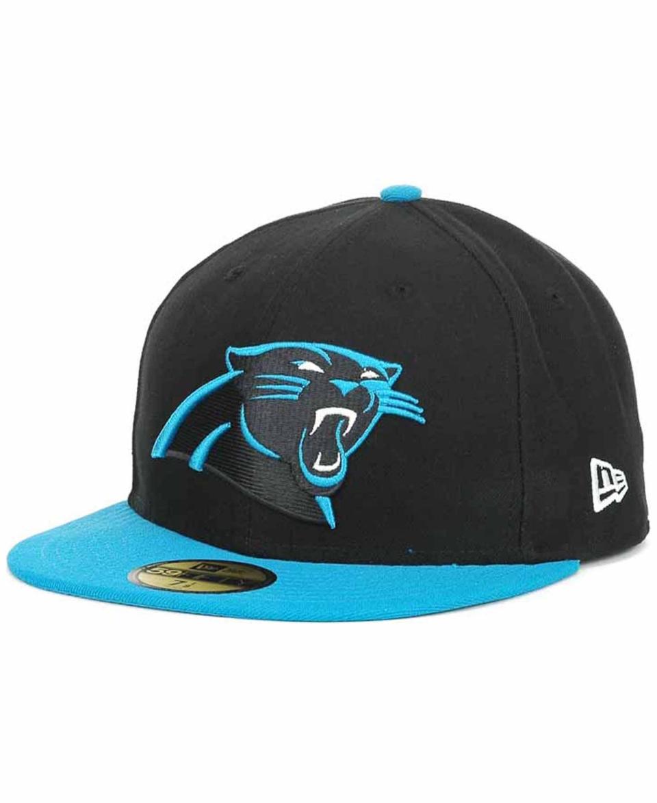 3ac048bcbd303 New Era Carolina Panthers On Field 59FIFTY Cap Sports Fan Shop By Lids Men